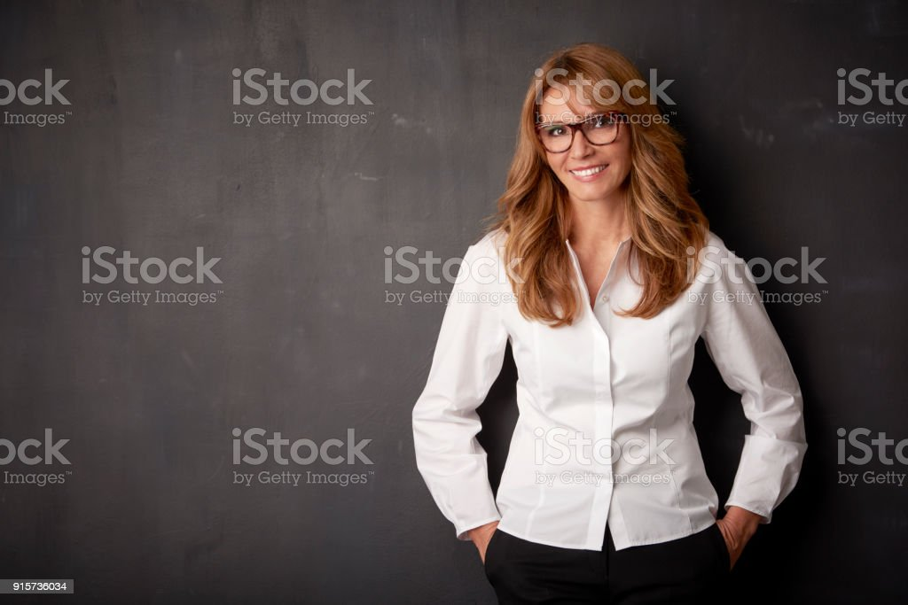 Attracive woman with beautiful smile stock photo