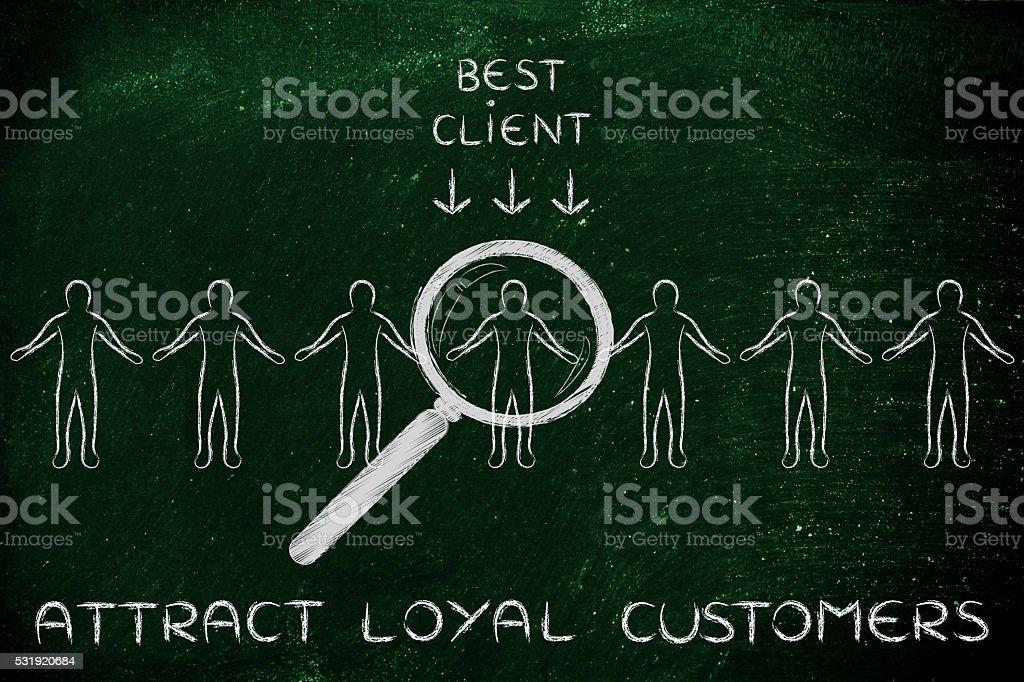 attract loyal customers stock photo