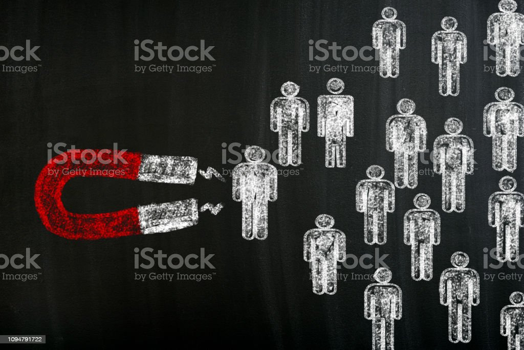 Attracting Customers With Horseshoe Magnet stock photo