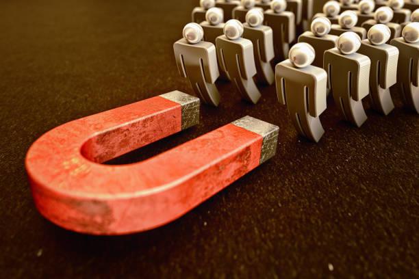 Kundengewinnung, Vertrieb und Online-Verkehr, Marketing-Geschäftsstrategiekonzept – Foto