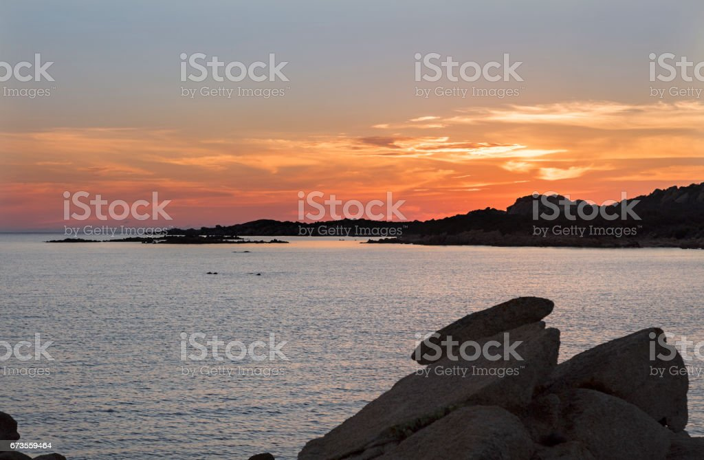 Attracting shapes of the Isles Lavezzi offshore Bonifacio, Southern Corsica, France. royalty-free stock photo