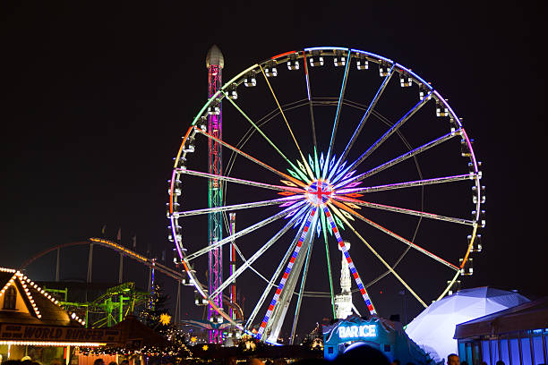 Attractions of the Hyde Park's winter WonderLand park. – Foto