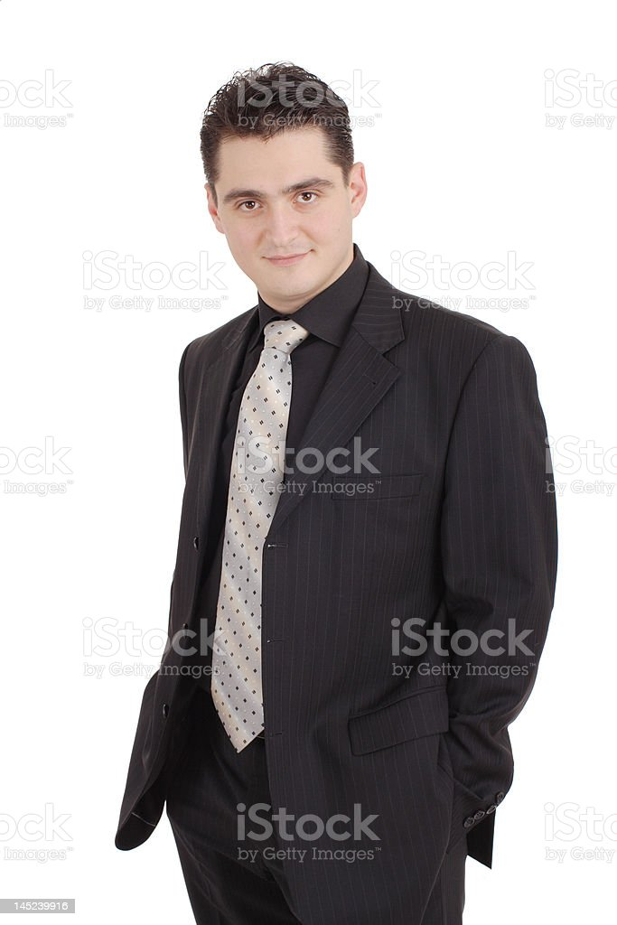 Attractive adult in a suit royalty-free stock photo