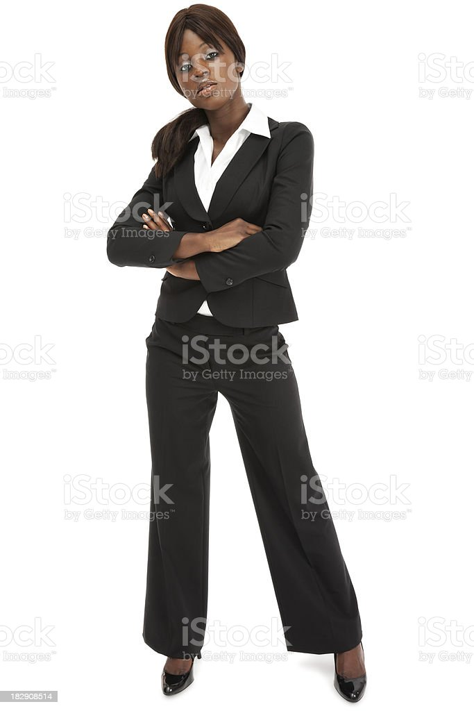 Attractive African American Businesswoman royalty-free stock photo