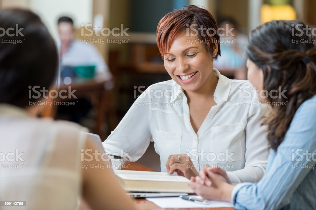 Attractive African American College Student Studies With