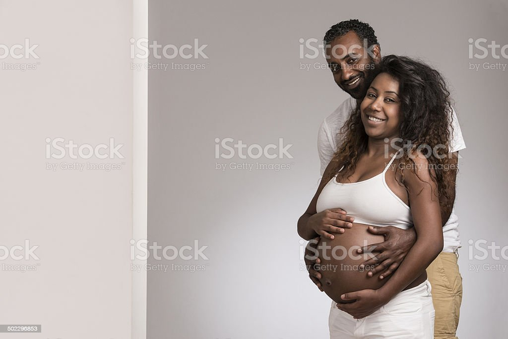 Attractive african american couple indoor. stock photo