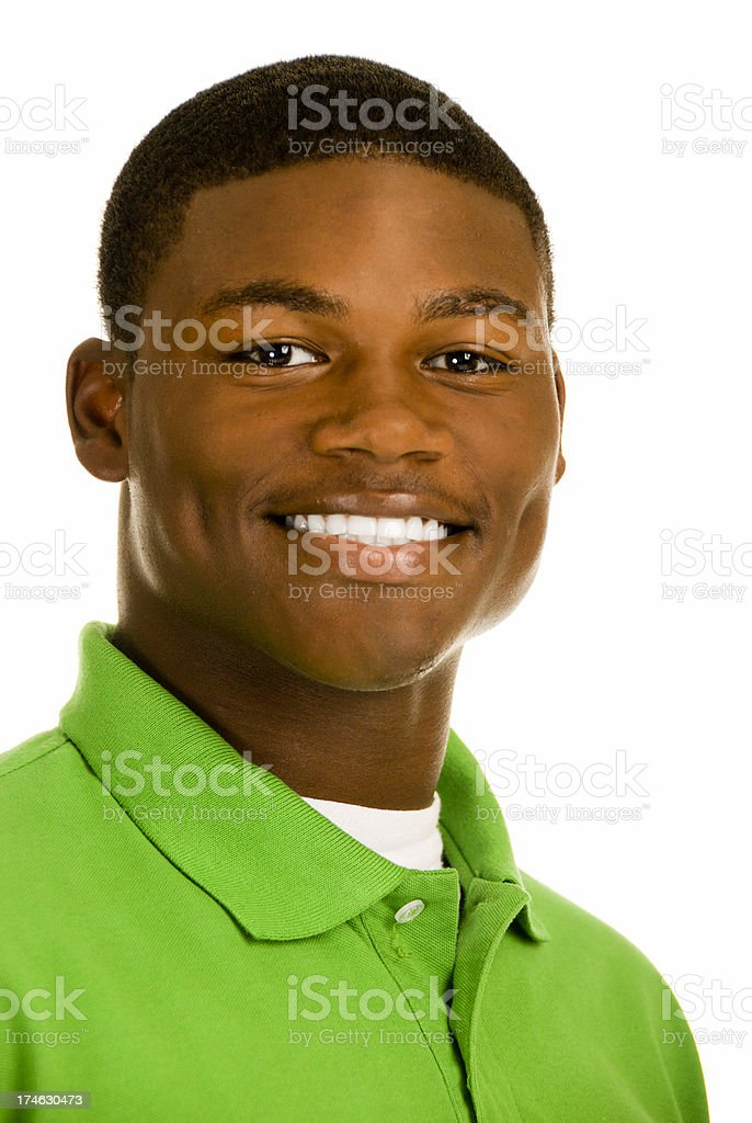 Attractive African American Male stock photo