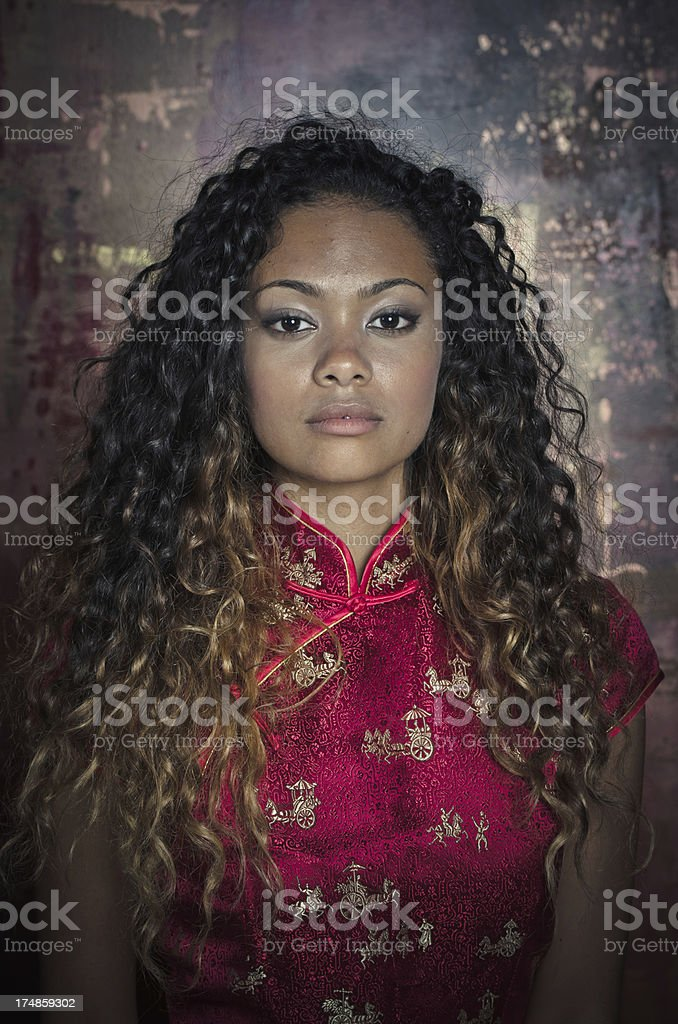 Attractive African American Young Woman royalty-free stock photo