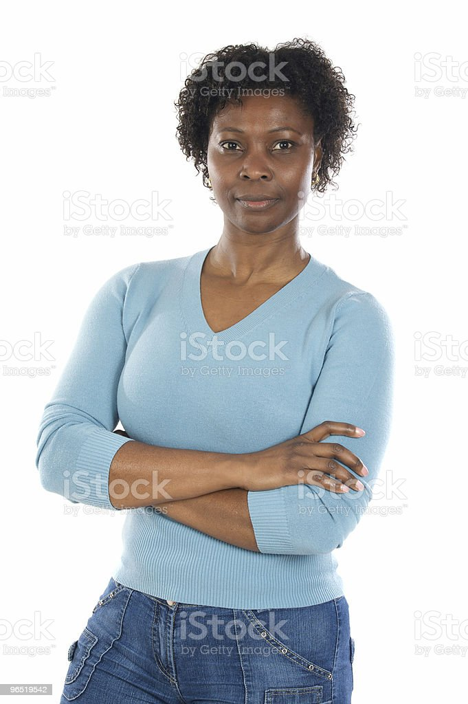 Attractive African woman royalty-free stock photo