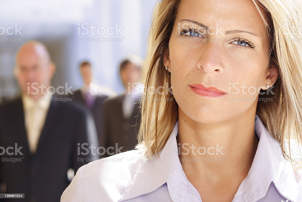 attractive and ambitious businesswoman royalty-free stock photo