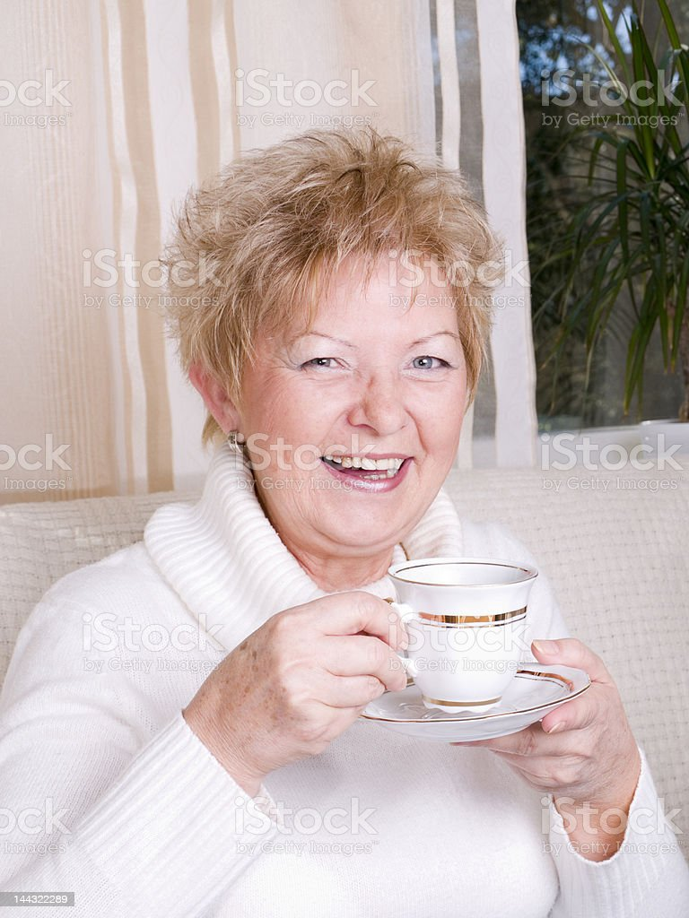 attractive and mature women laughing royalty-free stock photo