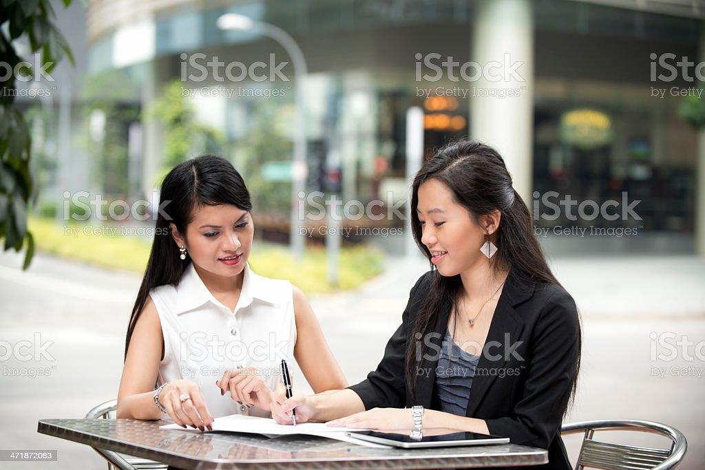 Attractive Asian Businesswomen royalty-free stock photo