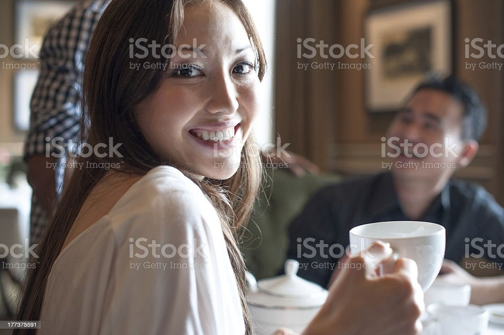 Attractive asian girl smiling royalty-free stock photo