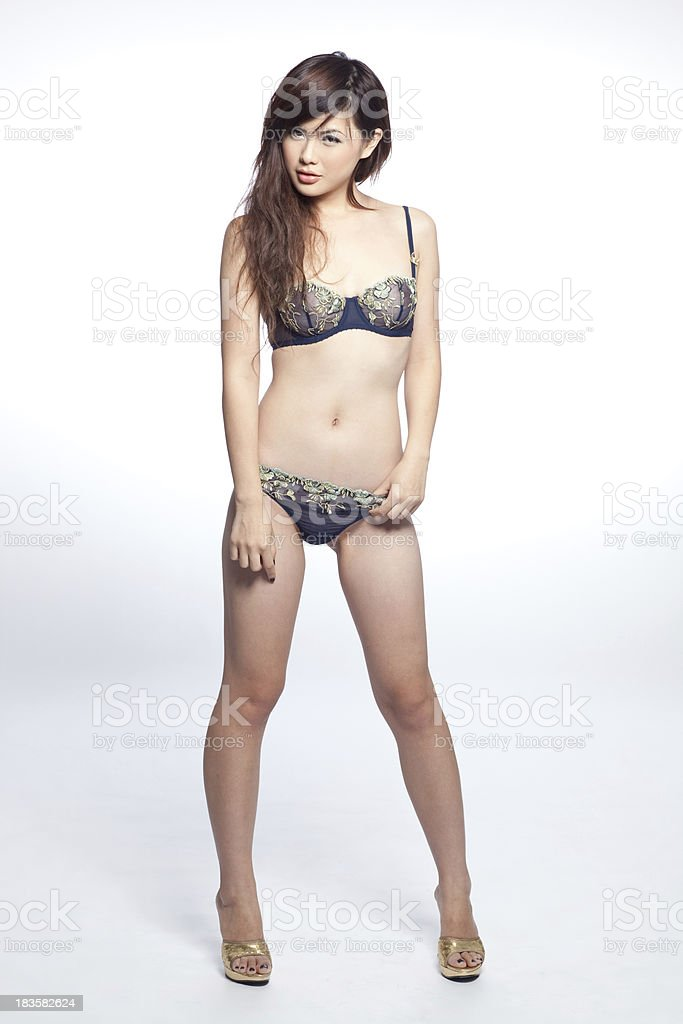 Attractive Asian Lingerie Model Stock Photo Amp More