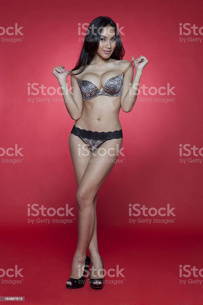 Attractive asian model stock photo