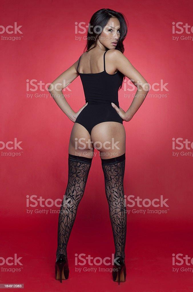 Attractive asian model stok fotoğrafı