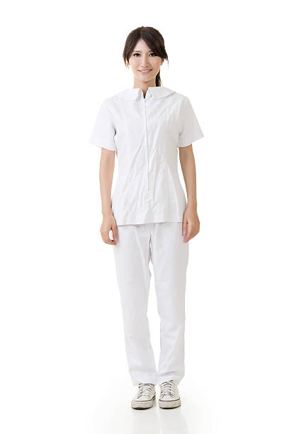 Attractive asian nurse stock photo