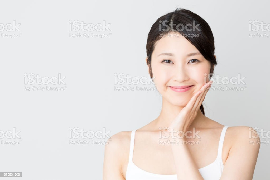 attractive asian woman beauty image isolated on white background stock photo