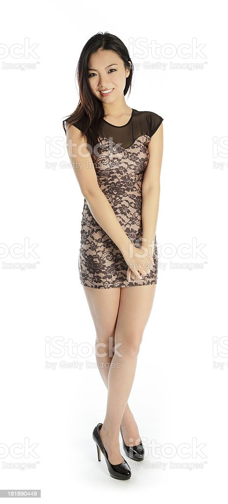 Attractive Asian woman isolated on white background royalty-free stock photo