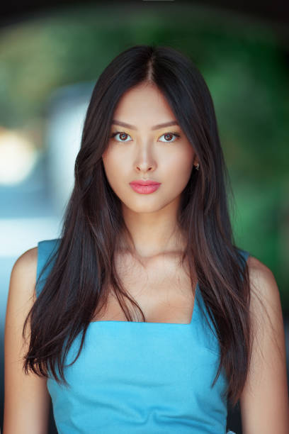 Attractive asian woman portrait stock photo