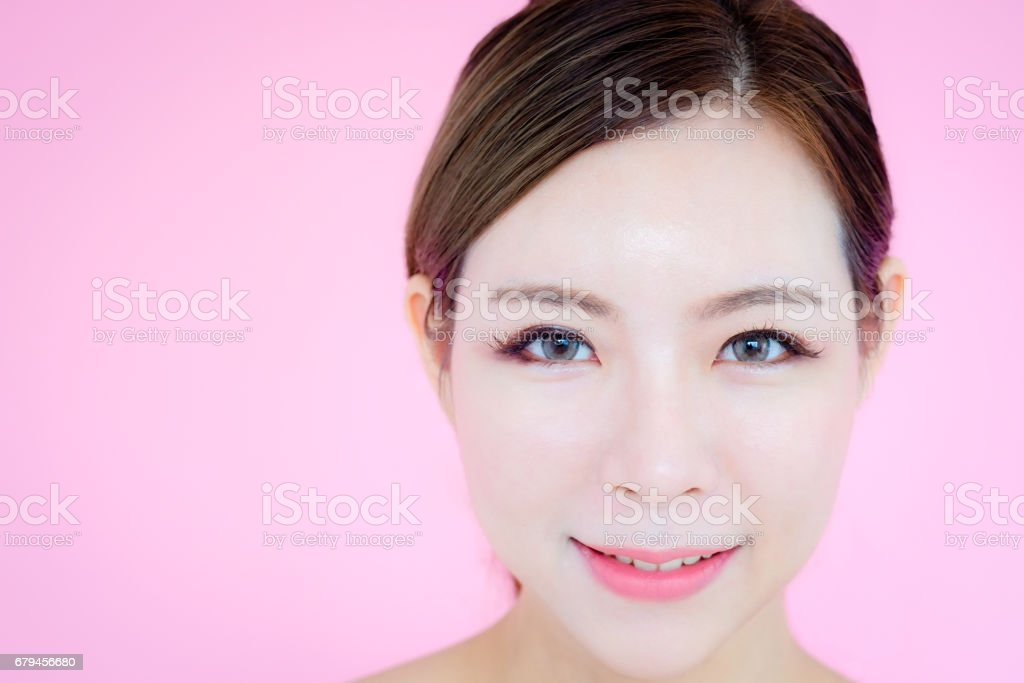 attractive beauty asian woman skin care image. royalty-free stock photo