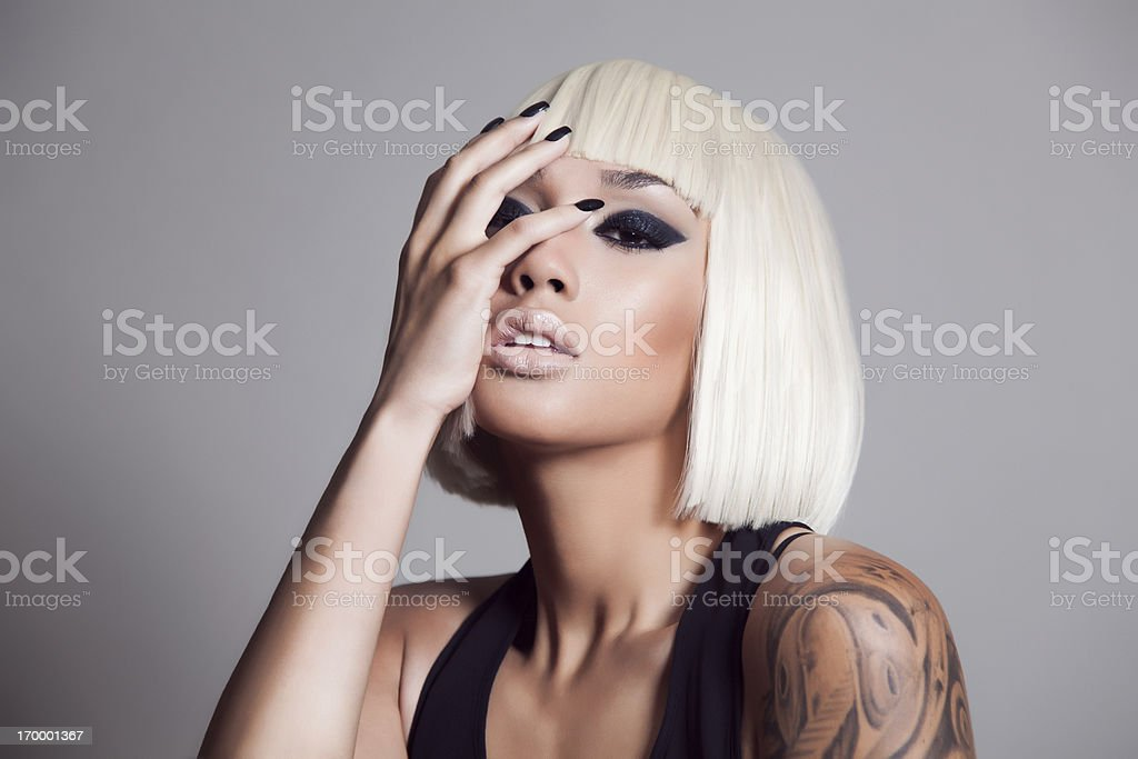 Attractive beauty stock photo