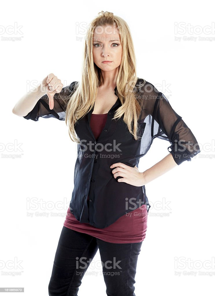 Attractive blond caucasian girl royalty-free stock photo