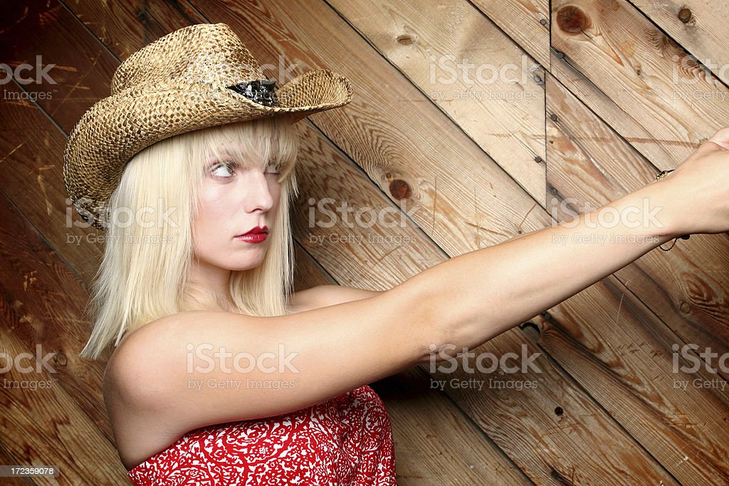 Attractive Blond Cowgirl royalty-free stock photo
