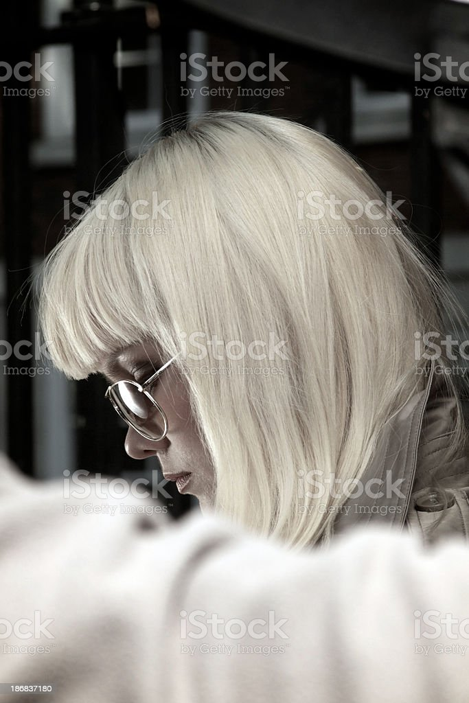 Attractive blond female royalty-free stock photo