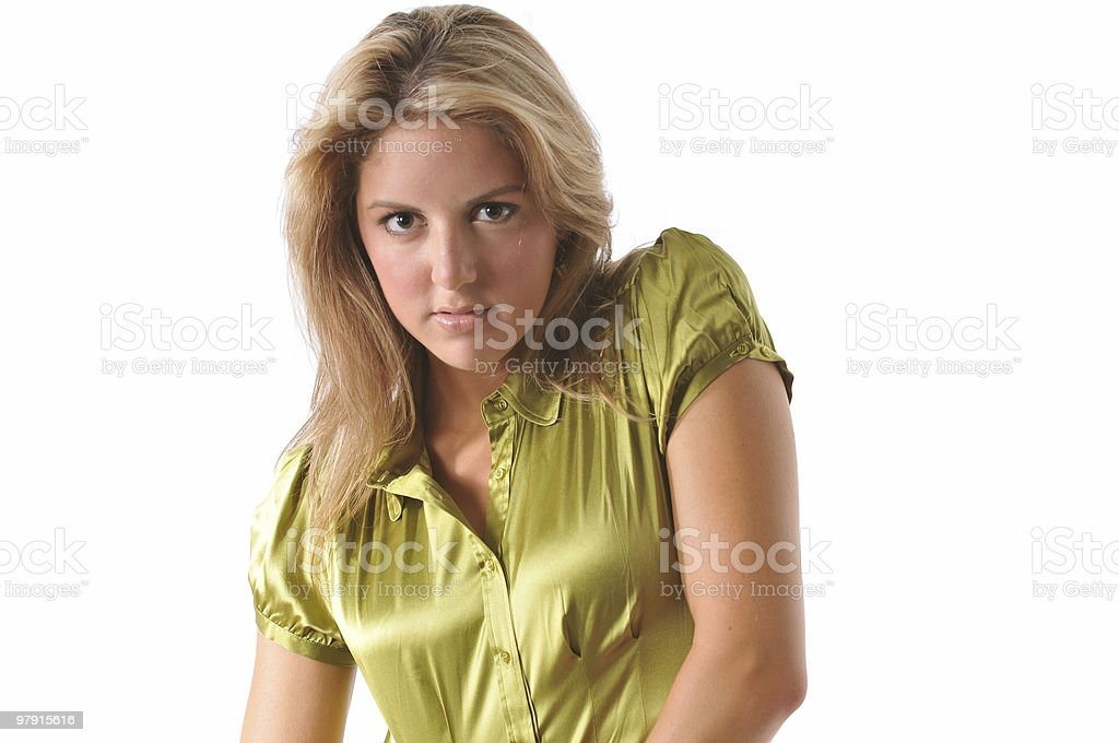 Attractive blond girl royalty-free stock photo