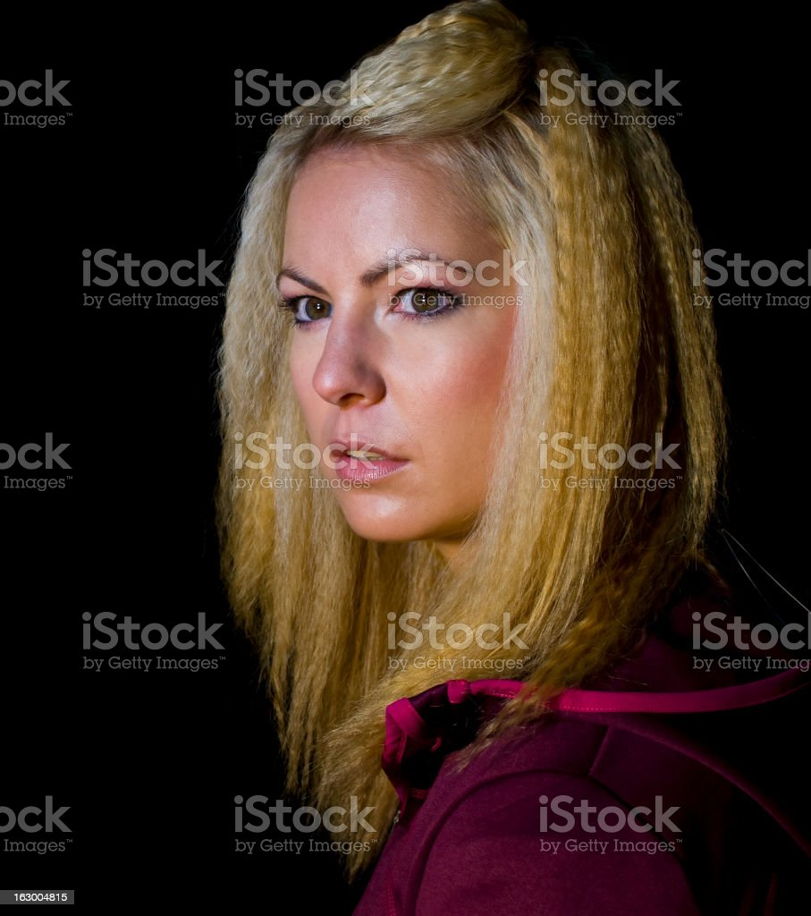 Attractive blond woman royalty-free stock photo
