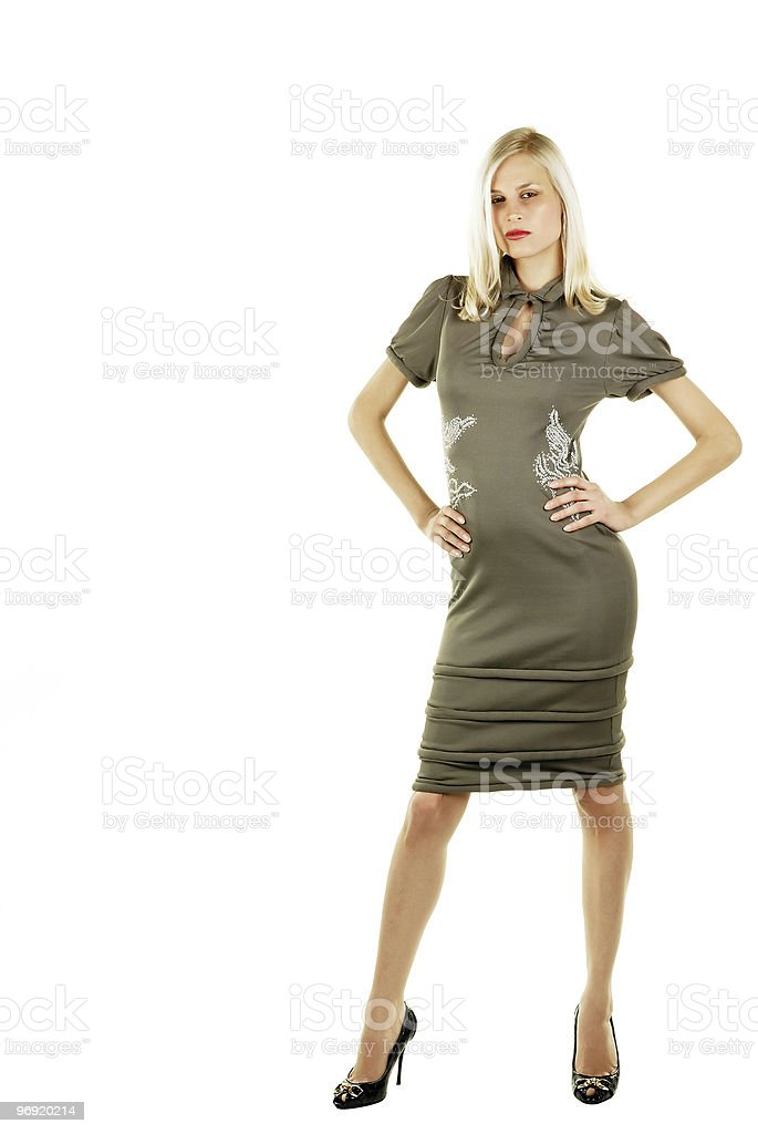 Attractive blonde beauty royalty-free stock photo