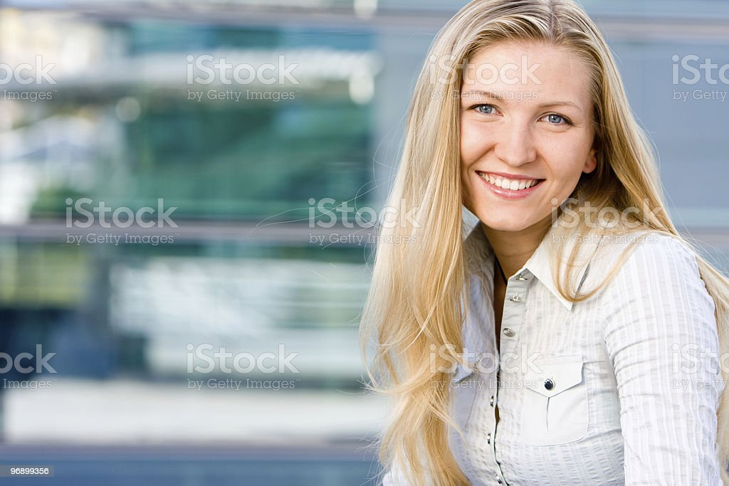 Attractive blonde business woman royalty-free stock photo