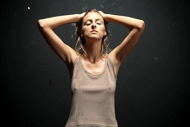 Attraktive blonde – Foto
