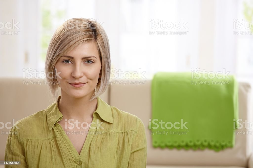 Attractive blonde woman royalty-free stock photo