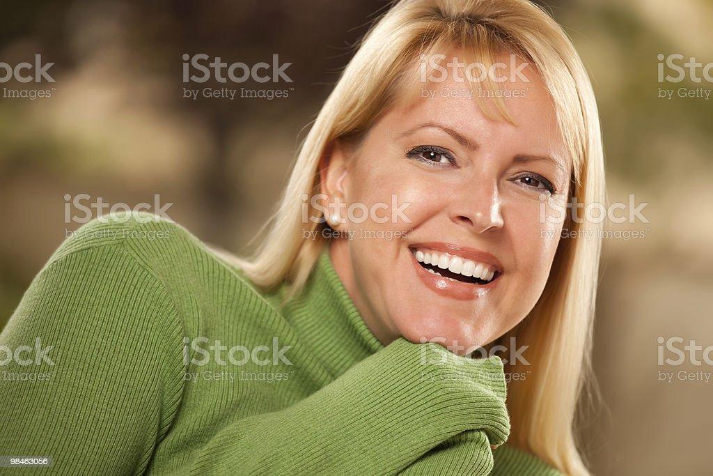 Ritratto di donna dagli occhi marrone foto stock royalty-free