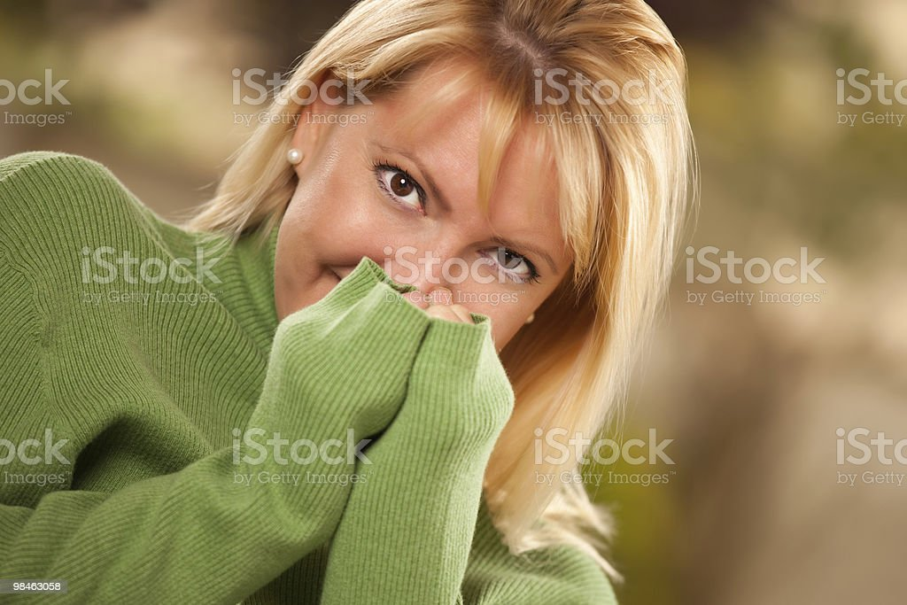 Attractive Brown Eyed Woman Portrait royalty-free stock photo