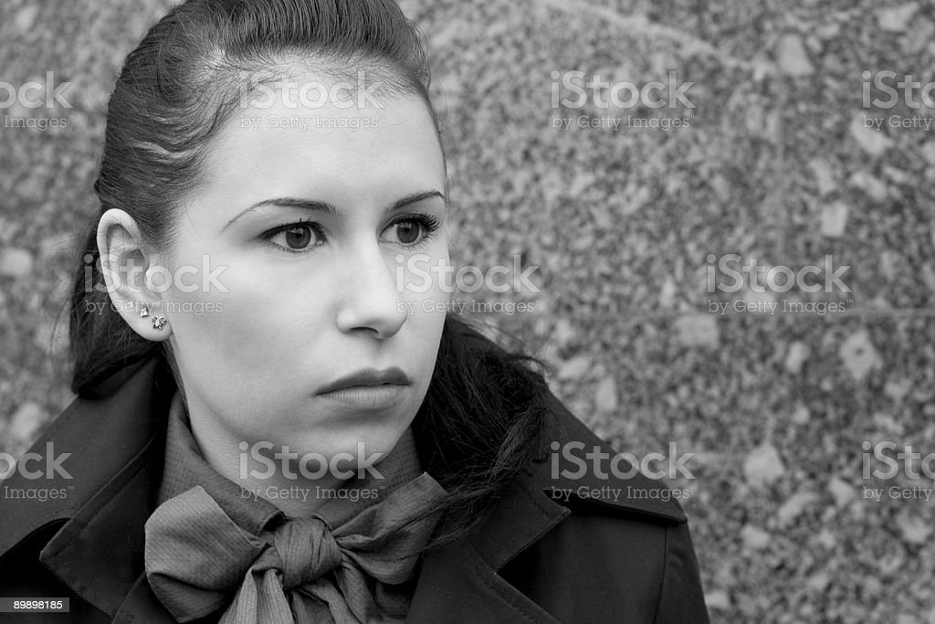 attractive brunet woman royalty-free stock photo