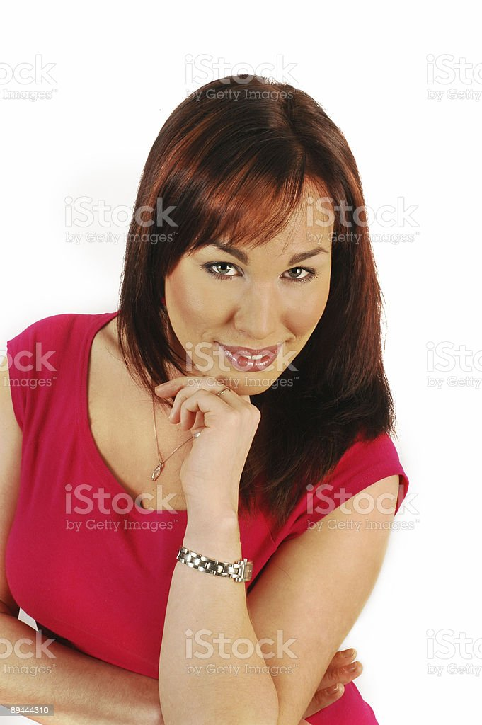 Attractive brunette royalty-free stock photo