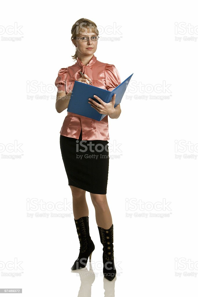 Attractive business serious woman royalty-free stock photo