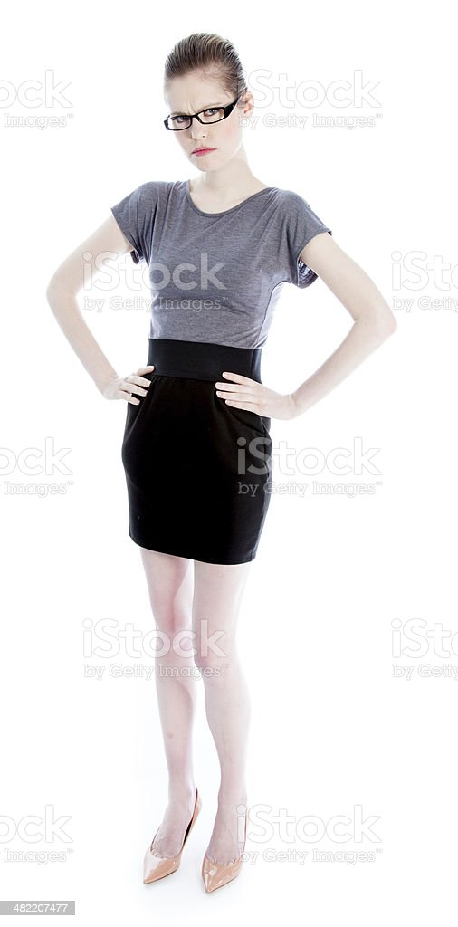Attractive business woman  isolated on white background royalty-free stock photo