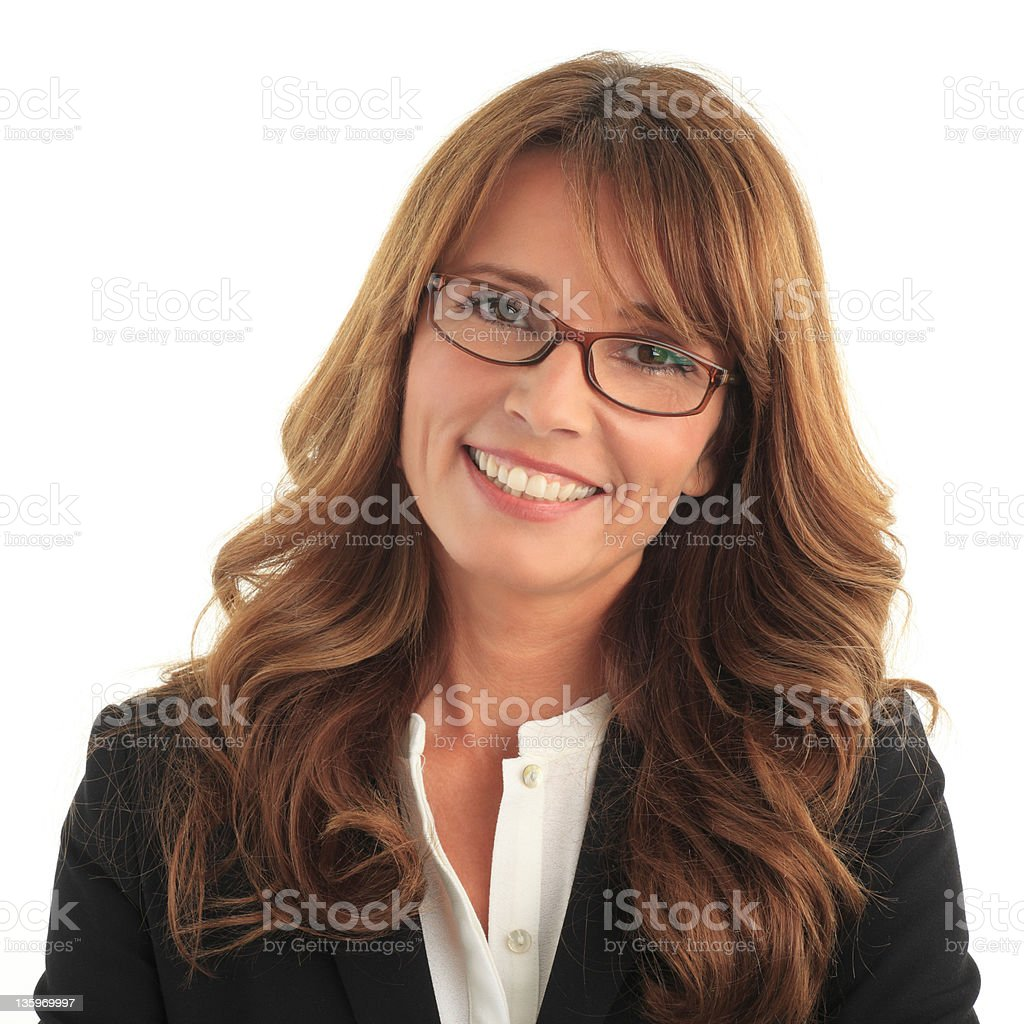 Attractive business woman royalty-free stock photo