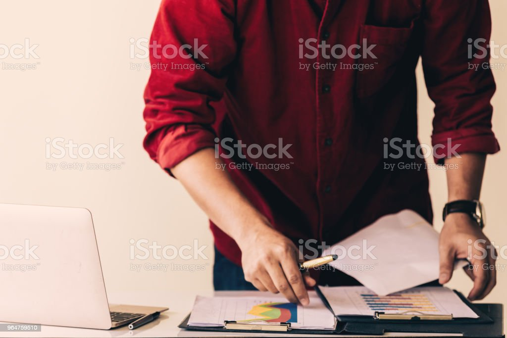 attractive businessmen working royalty-free stock photo