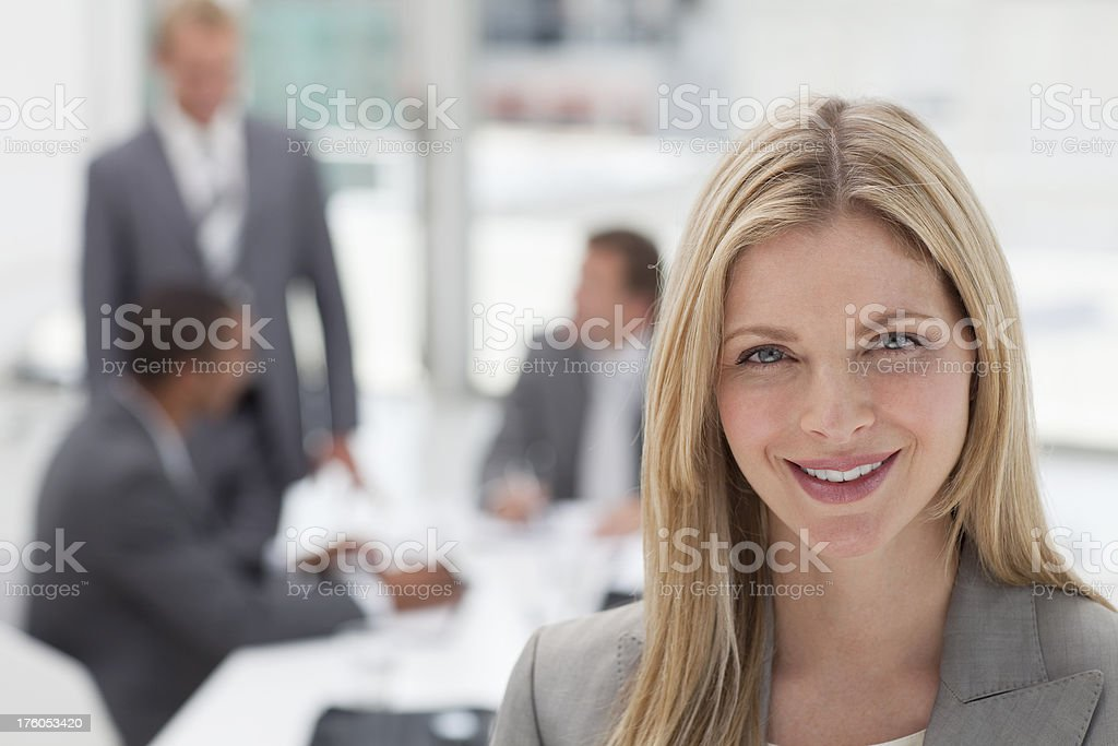 Attractive businesswoman at a meeting. royalty-free stock photo