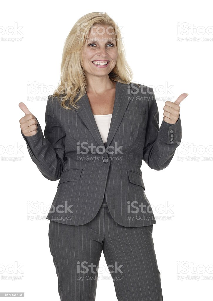 Attractive Businesswoman Gives 'Thumbs Up' royalty-free stock photo