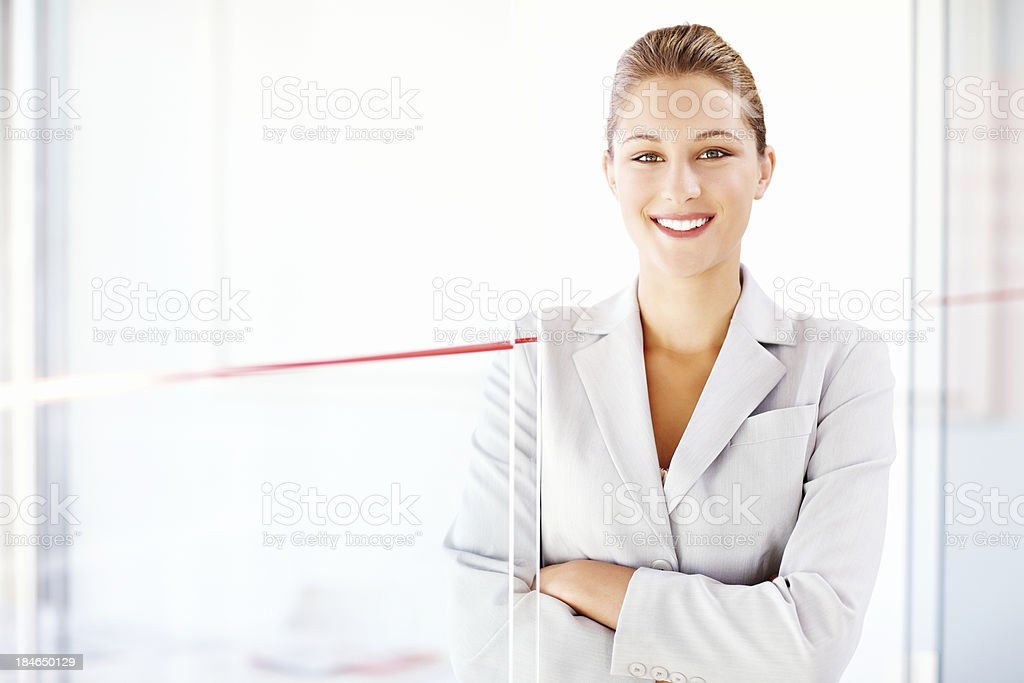 Attractive Businesswoman in a Suit royalty-free stock photo