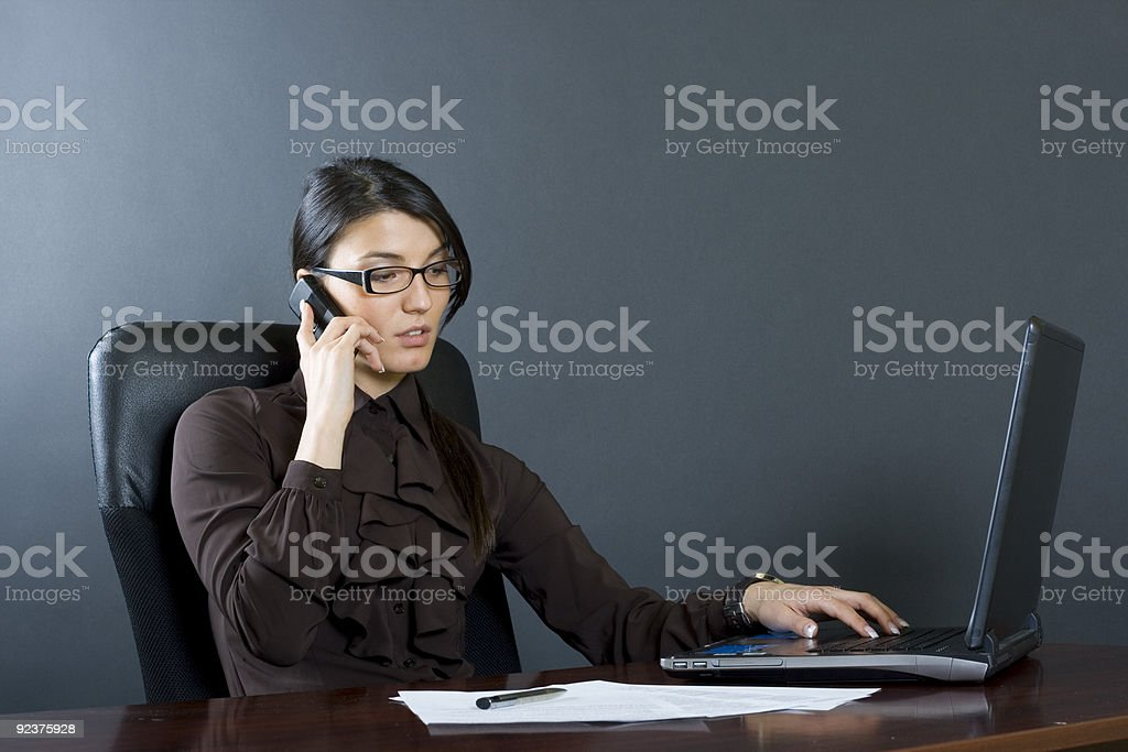attractive businesswoman on the phone royalty-free stock photo