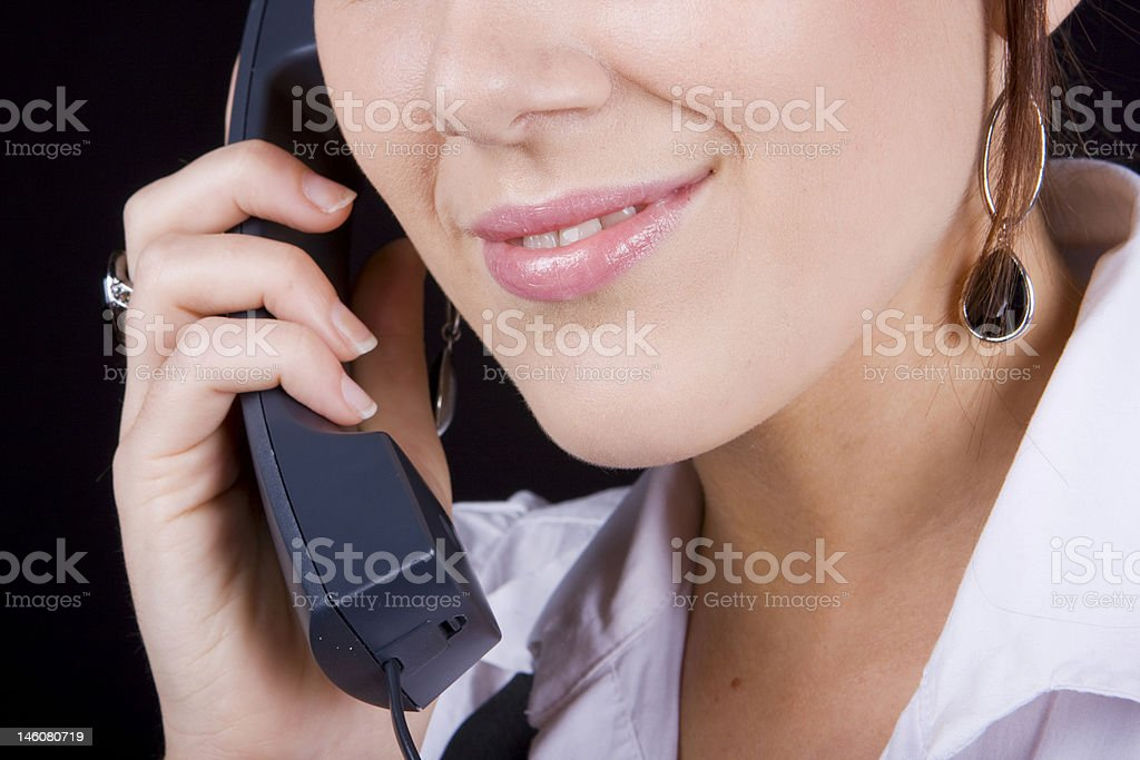 Attractive Caller stock photo