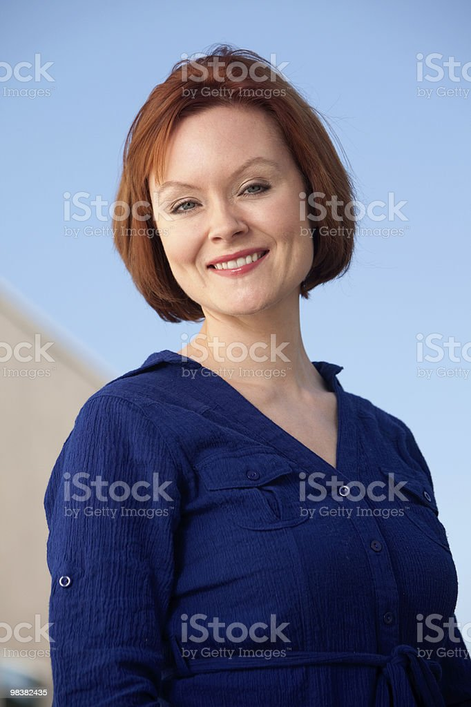 Attractive caucasian brunette thirties woman royalty-free stock photo