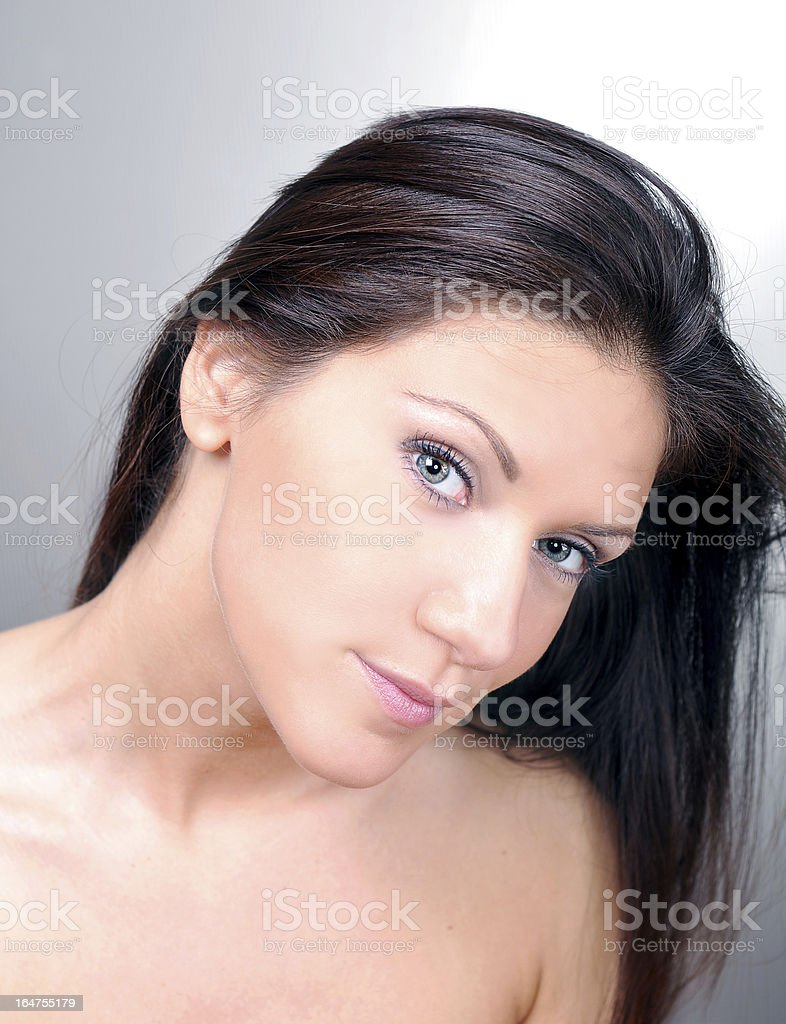 Attractive caucasian model royalty-free stock photo